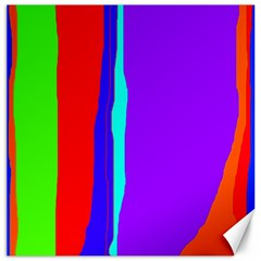 Colorful decorative lines Canvas 16  x 16