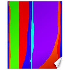 Colorful decorative lines Canvas 16  x 20