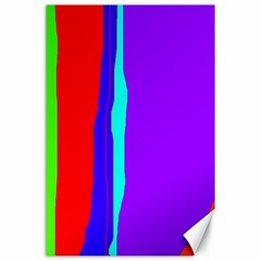 Colorful decorative lines Canvas 24  x 36