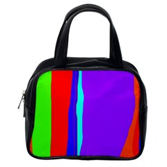 Colorful decorative lines Classic Handbags (One Side)