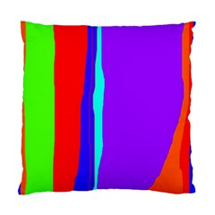 Colorful decorative lines Standard Cushion Case (Two Sides)