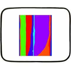 Colorful decorative lines Double Sided Fleece Blanket (Mini)