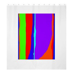 Colorful decorative lines Shower Curtain 66  x 72  (Large)
