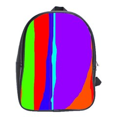 Colorful decorative lines School Bags(Large)