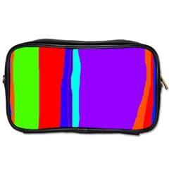 Colorful decorative lines Toiletries Bags