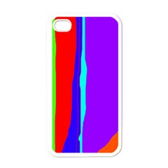 Colorful decorative lines Apple iPhone 4 Case (White)