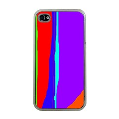 Colorful decorative lines Apple iPhone 4 Case (Clear)
