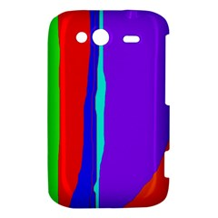 Colorful decorative lines HTC Wildfire S A510e Hardshell Case
