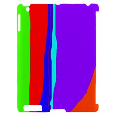 Colorful decorative lines Apple iPad 2 Hardshell Case (Compatible with Smart Cover)