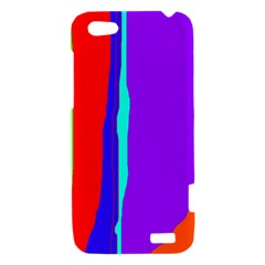 Colorful decorative lines HTC One V Hardshell Case