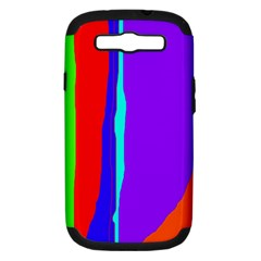 Colorful decorative lines Samsung Galaxy S III Hardshell Case (PC+Silicone)