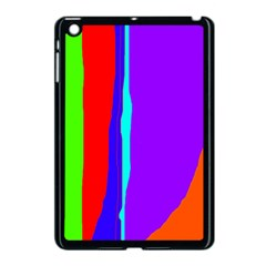 Colorful decorative lines Apple iPad Mini Case (Black)