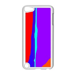 Colorful decorative lines Apple iPod Touch 5 Case (White)