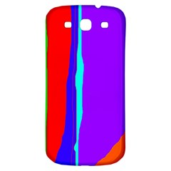 Colorful decorative lines Samsung Galaxy S3 S III Classic Hardshell Back Case