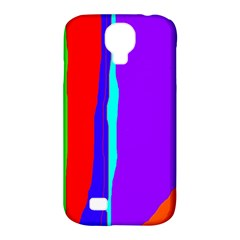 Colorful decorative lines Samsung Galaxy S4 Classic Hardshell Case (PC+Silicone)