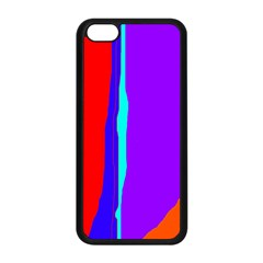 Colorful decorative lines Apple iPhone 5C Seamless Case (Black)