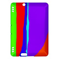Colorful decorative lines Kindle Fire HDX Hardshell Case