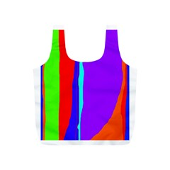 Colorful decorative lines Full Print Recycle Bags (S)