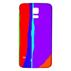 Colorful decorative lines Samsung Galaxy S5 Back Case (White)