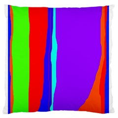 Colorful decorative lines Standard Flano Cushion Case (Two Sides)