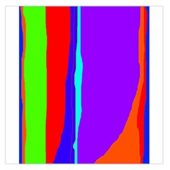 Colorful decorative lines Large Satin Scarf (Square)