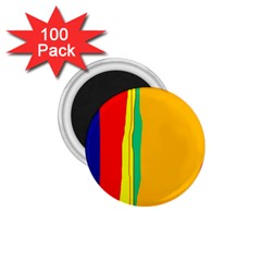 Colorful lines 1.75  Magnets (100 pack)