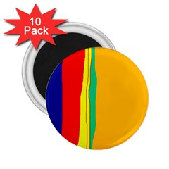 Colorful lines 2.25  Magnets (10 pack)