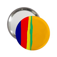 Colorful lines 2.25  Handbag Mirrors