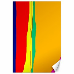 Colorful lines Canvas 24  x 36