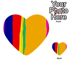 Colorful lines Multi-purpose Cards (Heart)