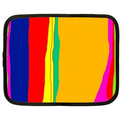 Colorful lines Netbook Case (Large)