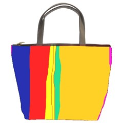 Colorful lines Bucket Bags