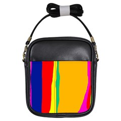 Colorful lines Girls Sling Bags