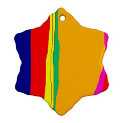 Colorful lines Ornament (Snowflake)