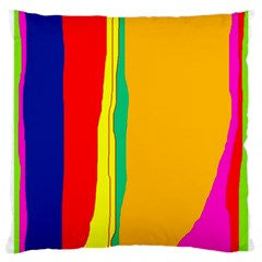Colorful lines Large Cushion Case (Two Sides)