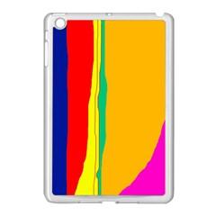 Colorful lines Apple iPad Mini Case (White)