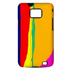 Colorful lines Samsung Galaxy S II i9100 Hardshell Case (PC+Silicone)