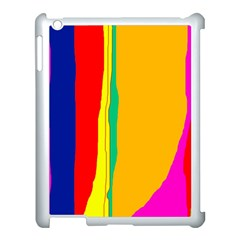 Colorful lines Apple iPad 3/4 Case (White)