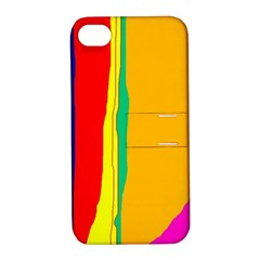 Colorful lines Apple iPhone 4/4S Hardshell Case with Stand