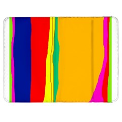 Colorful lines Samsung Galaxy Tab 7  P1000 Flip Case