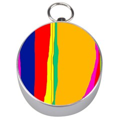 Colorful lines Silver Compasses