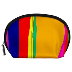 Colorful lines Accessory Pouches (Large)
