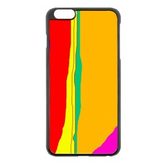 Colorful lines Apple iPhone 6 Plus/6S Plus Black Enamel Case