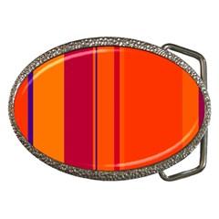 Orange lines Belt Buckles