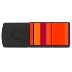 Orange lines USB Flash Drive Rectangular (1 GB)