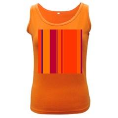 Orange lines Women s Dark Tank Top