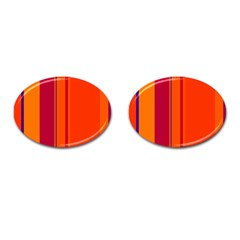 Orange lines Cufflinks (Oval)