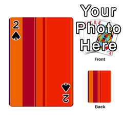 Orange lines Playing Cards 54 Designs
