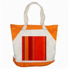 Orange lines Accent Tote Bag