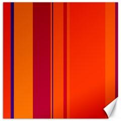 Orange lines Canvas 16  x 16